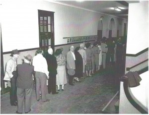 Byrd High School Voting Line