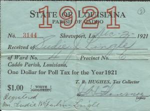 Poll Tax Caddo 1921